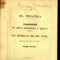 Libros antiguos: LUIS DE EGUILAZ : LAS QUERELLAS DEL REY SABIO (1867). Lote 252530230
