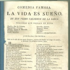 Livros antigos: 4264.-TEATRO-COMEDIA FAMOSA-LA VIDA ES SUEÑO-CALDERON DE LA BARCA 4180.-TEATRO-COMEDIA FAMOSA-LA VI. Lote 253090735