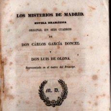 Libros antiguos: CARLOS GARCÍA DONCEL / LUIS DE OLONA : LOS MISTERIOS DE MADRID (REPULLÉS, 1845). Lote 253969295