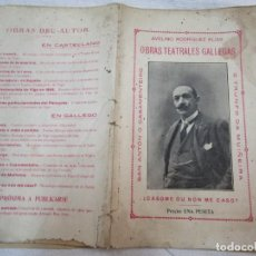 Libros antiguos: VIGO - 3 OBRAS TEATRALES GALLEGAS - AVELINO RODRIGUEZ ELIAS - FARO DE VIGO 1920 31 PAG 21CM + INFO. Lote 255458310