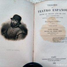 Livres anciens: TESORO DEL TEATRO ESPAÑOL - EUGENIO DE OCHOA - TOMO QUINTO - PARÍS, 1899. Lote 261104105