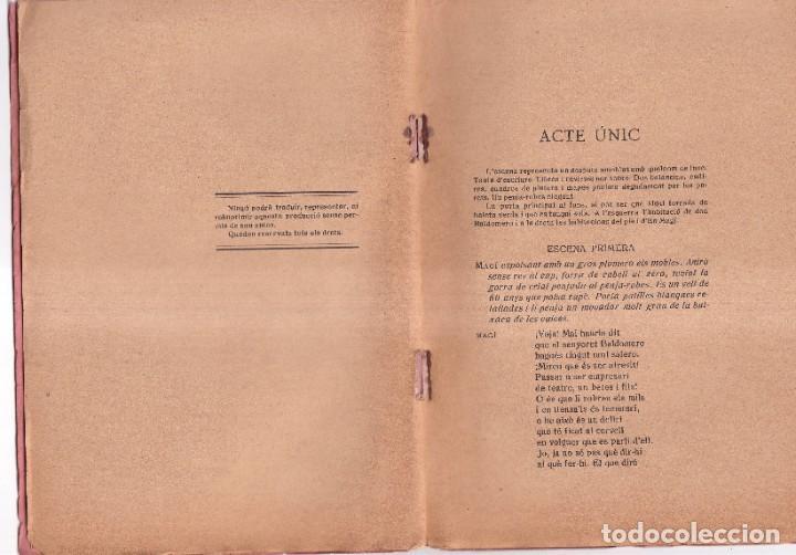 Libros antiguos: CADA HU DEL SEU OFICI - SARSUELA EN UN ACTE I VERS - PAU GUBERT I PALET, PERE SOLER - 1922 - Foto 2 - 261220680