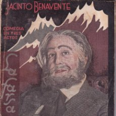 Libros antiguos: CUANDO LOS HIJOS DE EVA NO SON LOS HIJOS DE ADÁN - JACINTO BENAVENTE - LA FARSA 1933. Lote 261238215