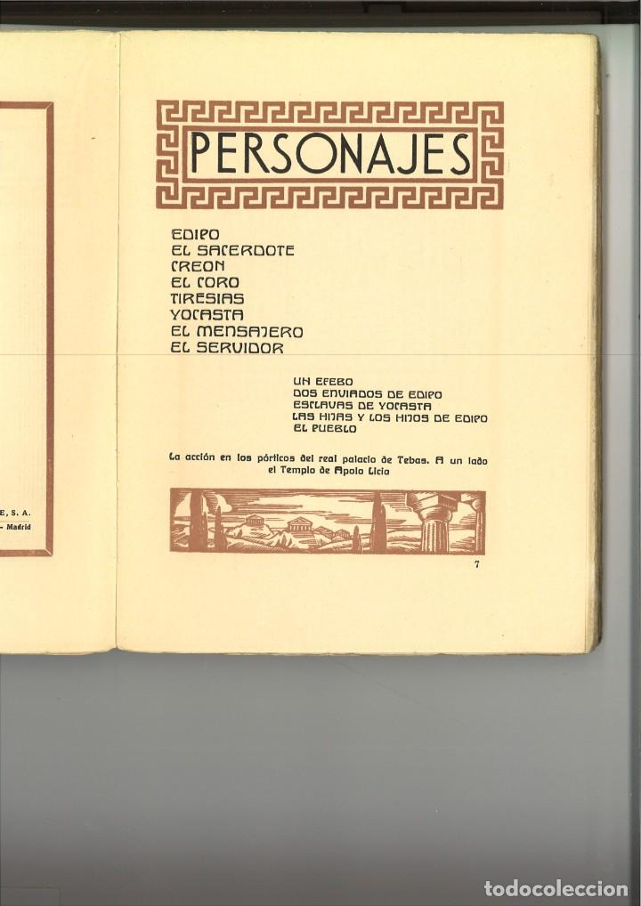 Libros antiguos: EDIPO REY TRAGEDIA DE SOFOCLES - Foto 3 - 261566320