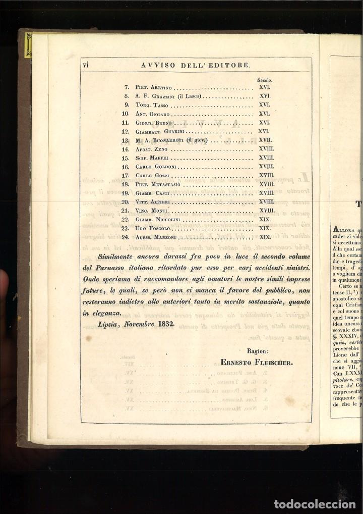 Libros antiguos: TEATRO CLASSICO ITALIANO ANTIGUO E MODERNO, OVVERO IL PARNASSO TEATRALE. - Foto 4 - 261569780