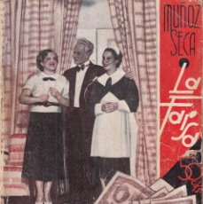 Libros antiguos: CATAPLUM, O EL HOMBRE QUE NO CREIA EN LOS MILAGROS - PEDRO MUÑOZ SECA - LA FARSA C. 1930. Lote 262911855