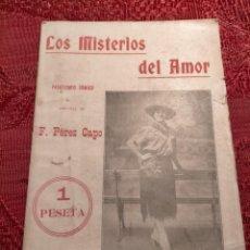 Libros antiguos: LOS MISTERIOS DEL AMOR PASATIEMPO COMICO POR F. PEREZ CAPO 1918. Lote 263555885