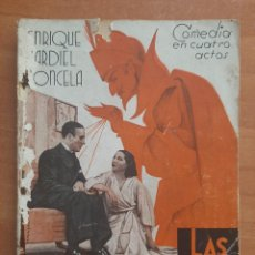 Libros antiguos: 1ª EDICIÓN 1936 - LAS CINCO ADVERTENCIAS DE SATANÁS - ENRIQUE JARDIEL PONCELA. Lote 265149724