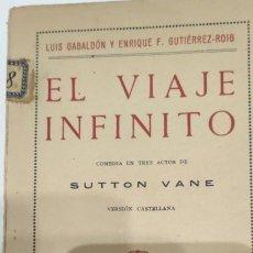 Libros antiguos: EL VIAJE INFINITO. LUIS GABALDÓN Y ENRIQUE F. GUTIÉRREZ- ROIG. 1926. Lote 265706804
