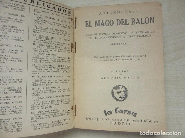 Libros antiguos: 2 obras de Antonio Paso y dos obras de José Marco Davó y José Alfayate Edit. Estampa 1935 Ver descri - Foto 2 - 269845128