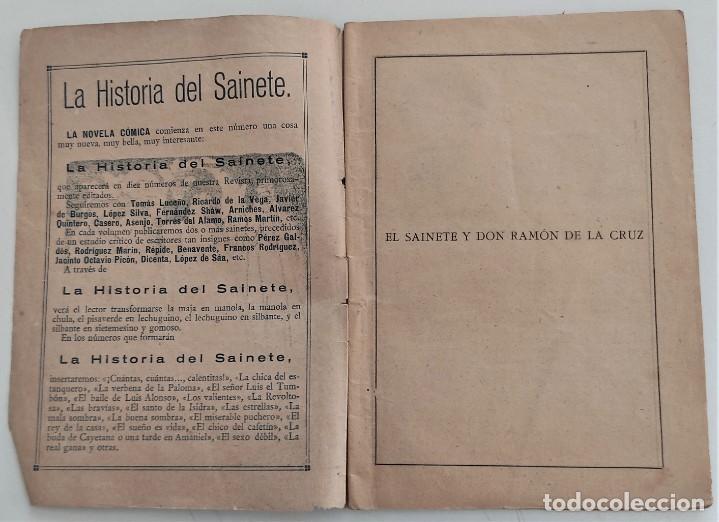 Libros antiguos: HISTORIA DEL SAINETE, VOLUMEN PRIMERO - LA NOVELA CÓMICA Nº 16 AÑO 1917 - DON RAMÓN DE LA CRUZ - Foto 3 - 270362643