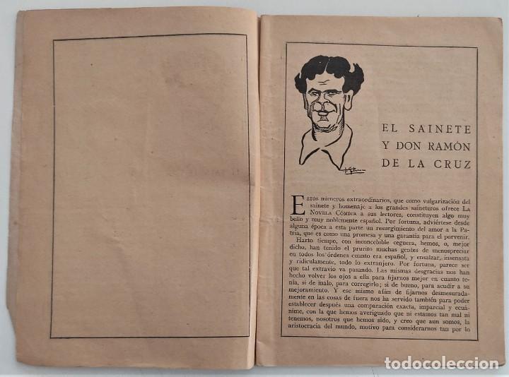 Libros antiguos: HISTORIA DEL SAINETE, VOLUMEN PRIMERO - LA NOVELA CÓMICA Nº 16 AÑO 1917 - DON RAMÓN DE LA CRUZ - Foto 4 - 270362643