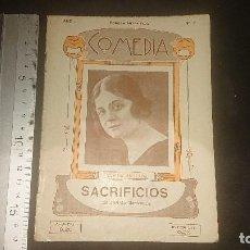 Libros antiguos: LIBRITO ANTIGUO COMEDIA 1922 , SACRIFICIOS , D JACINTO BENAVENTE , AÑO 1 NUMERO 7 , LEER DESCRIPCION. Lote 270682493