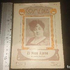 Libros antiguos: LIBRITO ANTIGUO COMEDIA 1922 , EL NIDO AJENO , D JACINTO BENAVENTE , AÑO 1 NUMERO , LEER DESCRIPCION. Lote 270682553