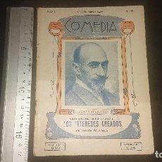 Libros antiguos: LIBRITO ANTIGUO COMEDIA 1922 , LOS INTERESES CREADOS , D JACINTO BENAVENTE , AÑO , LEER DESCRIPCION. Lote 270682668