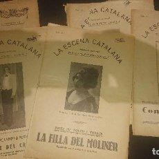 Libros antiguos: LOTE DE 5 REVISTAS ANTIGUAS , LA ESCENA CATALANA , LEER DESCRIPCION. Lote 270687928