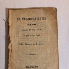 """Libros antiguos: LA SEGUNDA DAMA DUENDE"""" - """"VEGA, VENTURA DE LA. Lote 274940688"""
