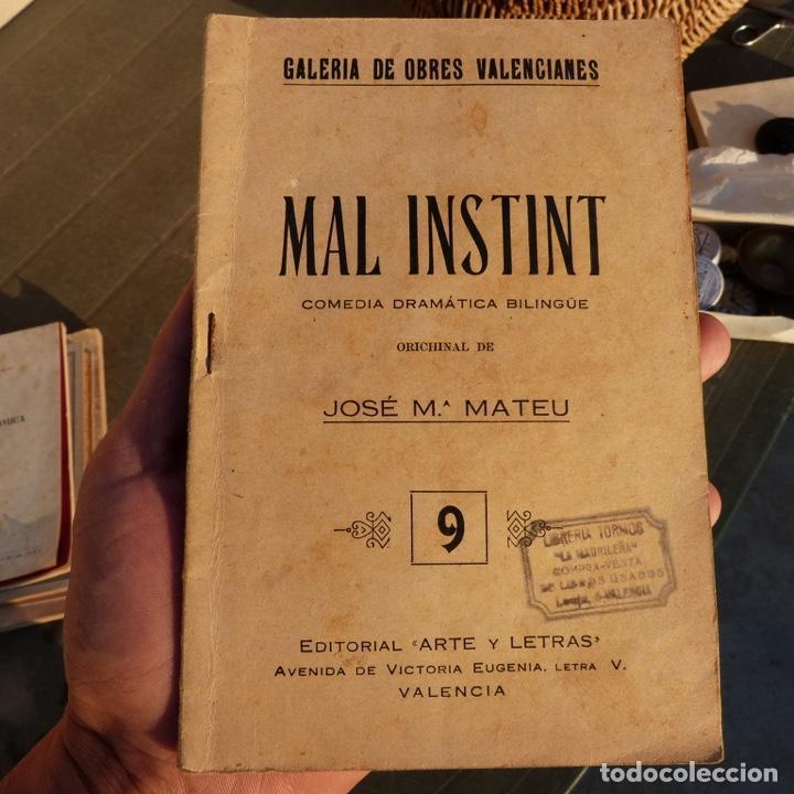 MAL INSTINT, GALERIA DE OBRES VALENCIANES, J M MATEU, VALENCIA 1925, COMEDIA DRAMATICA BILINGUE (Libros antiguos (hasta 1936), raros y curiosos - Literatura - Teatro)