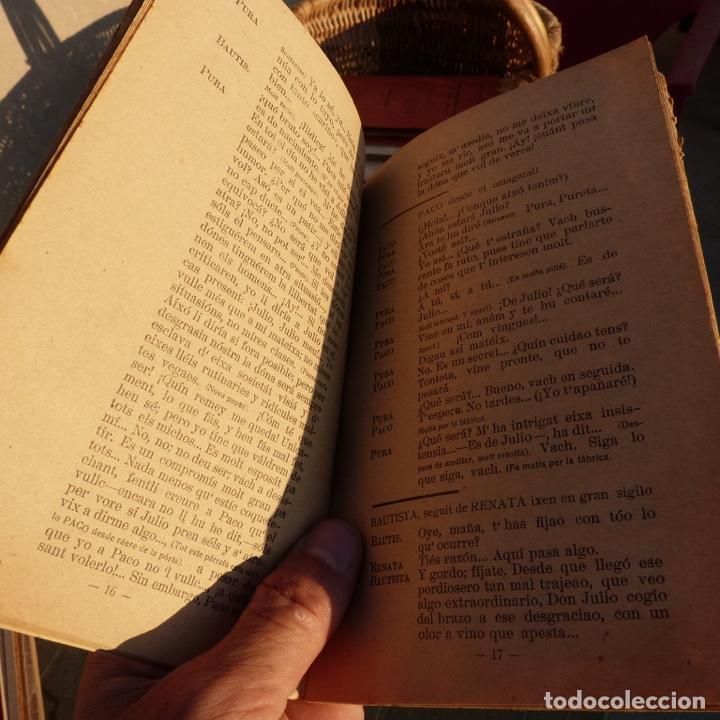 Libros antiguos: Mal instint, galeria de obres valencianes, j m mateu, valencia 1925, comedia dramatica bilingue - Foto 3 - 276960453