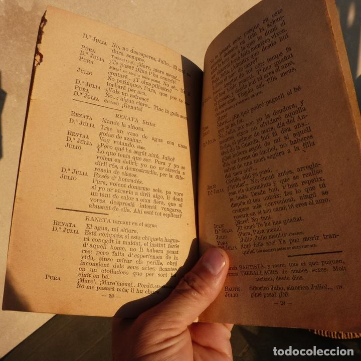 Libros antiguos: Mal instint, galeria de obres valencianes, j m mateu, valencia 1925, comedia dramatica bilingue - Foto 4 - 276960453