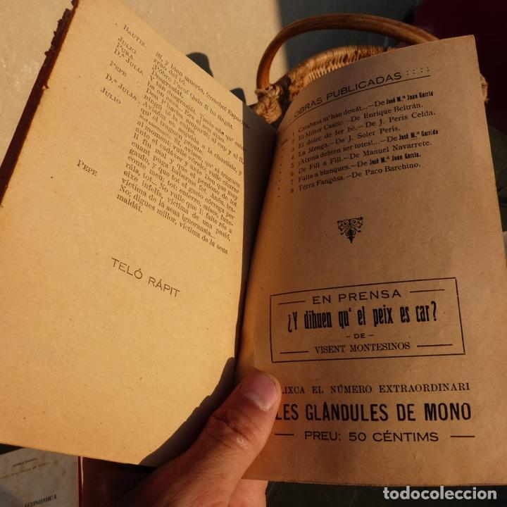 Libros antiguos: Mal instint, galeria de obres valencianes, j m mateu, valencia 1925, comedia dramatica bilingue - Foto 5 - 276960453