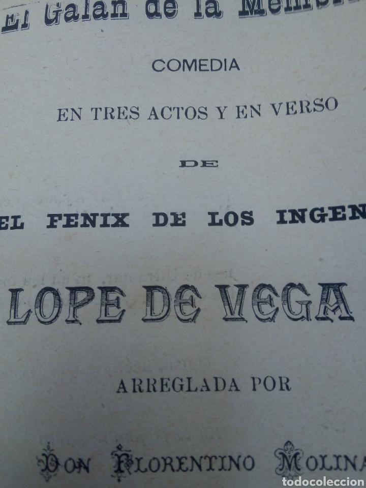 EL GALÁN DE LA MEMBRILLA AÑO 1896 (Libros antiguos (hasta 1936), raros y curiosos - Literatura - Teatro)