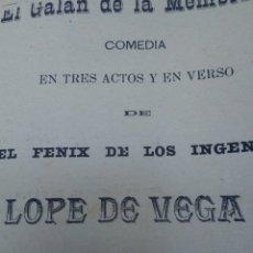 Libros antiguos: EL GALÁN DE LA MEMBRILLA AÑO 1896. Lote 277058688