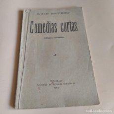 Libros antiguos: COMEDIAS CORTAS. DIALOGOS Y ENTREMESES. EN PROSA Y VERSO. LUIS ESTESO. 1914. 78 PAGS.. Lote 277245148