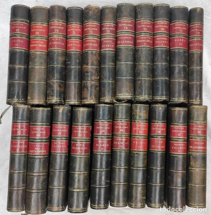 """""""TEATRO CRÍTICO UNIVERSAL. CLÁSICOS CASTELLENOS"""". EDICIONES DE LA LECTURA. MADRID. DE 1925 A 1928. (Libros antiguos (hasta 1936), raros y curiosos - Literatura - Teatro)"""