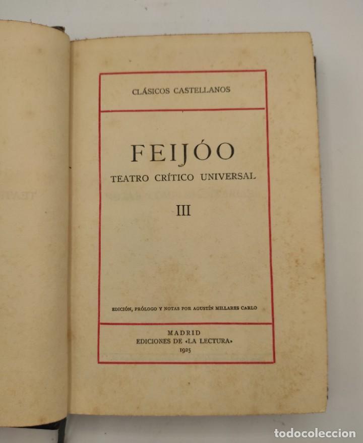 """Libros antiguos: """"Teatro crítico Universal. Clásicos castellenos"""". Ediciones de la lectura. Madrid. De 1925 a 1928. - Foto 5 - 277460118"""