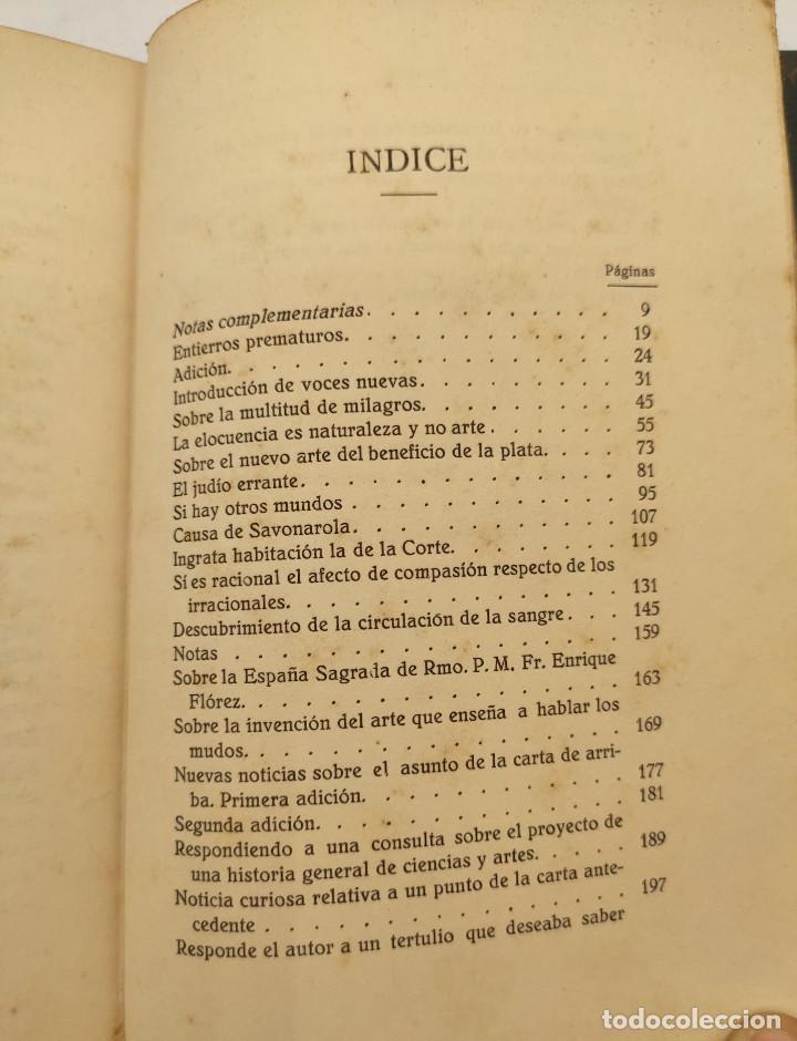 """Libros antiguos: """"Teatro crítico Universal. Clásicos castellenos"""". Ediciones de la lectura. Madrid. De 1925 a 1928. - Foto 115 - 277460118"""