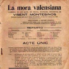 Libros antiguos: VISENT MONTESINOS : LA MORA VALENSIANA (VALENCIA, 1921). Lote 277625488