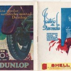 Libros antiguos: TEATRO LA ZARZUELA. MADRID. TEMPORADA OFICIAL DE OPERA 1926-1927. AIDA. Lote 278212448