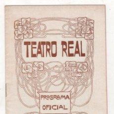 Libros antiguos: PROGRAMA OFICIAL TEATRO REAL. MADRID. MADAMA BUTTERFLY. 16 NOVIEMBRE DE 1907. Lote 278212933