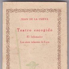 Libros antiguos: JUAN DE LA CUEVA: TEATRO ESCOGIDO. Lote 278600853