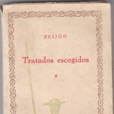 Libros antiguos: FEIJOO: TRATADOS ESCOGIDOS: 2 TOMOS. Lote 278602123