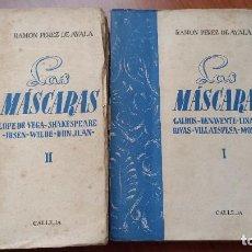 Libros antiguos: LAS MÁSCARAS - RAMÓN PÉREZ DE AYALA - 2 TOMOS - EDITORIAL CALLEJA - MADRID - 1919. Lote 278703908