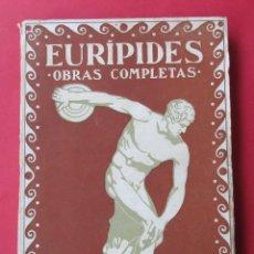 Libros antiguos: OBRAS COMPLETAS. EURÍPIDES. TOMO I. PROMETEO CIRCA 1930. 219 PÁGINAS.. Lote 279355783