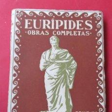 Libros antiguos: OBRAS COMPLETAS. EURÍPIDES. TOMO IV. PROMETEO CIRCA 1930. 239 PÁGINAS.. Lote 279355988