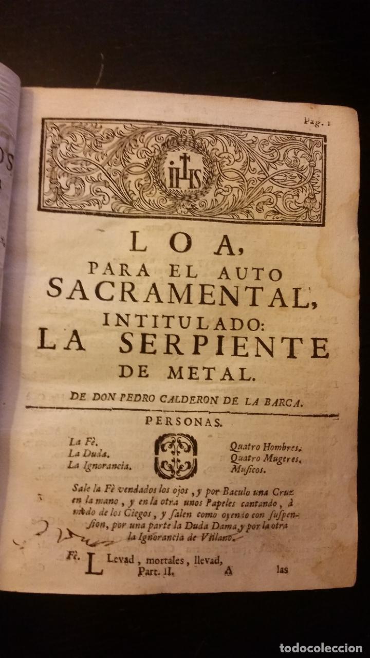 Libros antiguos: 1717 - CALDERON DE LA BARCA. Autos sacramentales, alegóricos e historiales. Obras posthumas II - Foto 5 - 286524518