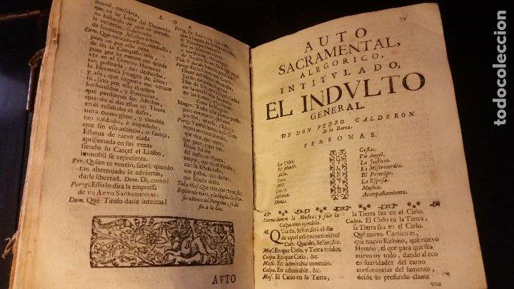 Libros antiguos: 1717 - CALDERON DE LA BARCA. Autos sacramentales, alegóricos e historiales. Obras posthumas II - Foto 6 - 286524518