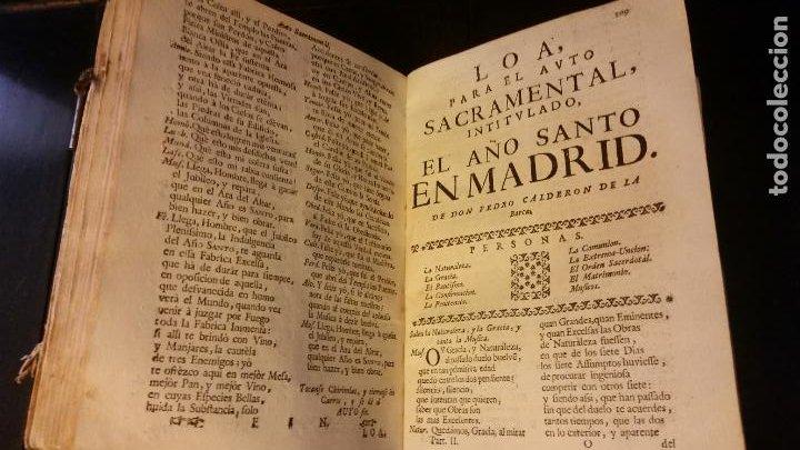 Libros antiguos: 1717 - CALDERON DE LA BARCA. Autos sacramentales, alegóricos e historiales. Obras posthumas II - Foto 7 - 286524518