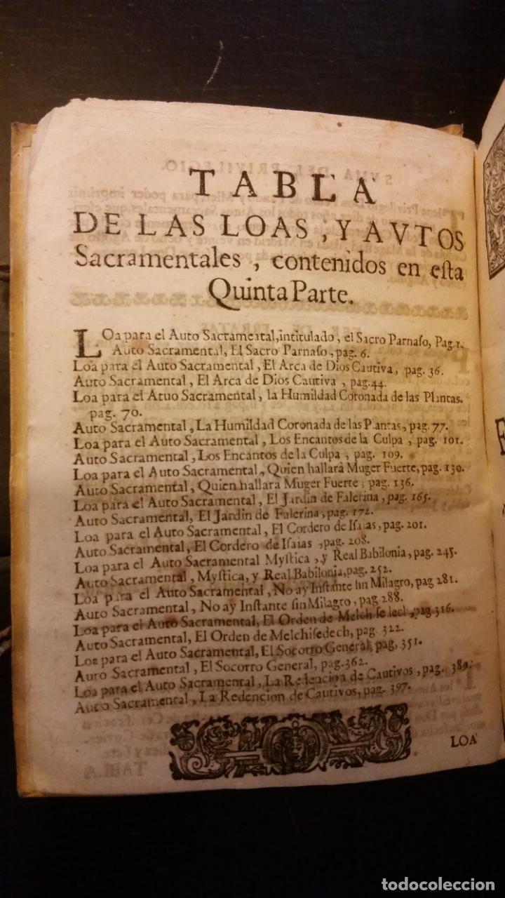 Libros antiguos: 1717 - CALDERON DE LA BARCA. Autos sacramentales, alegóricos e historiales. Obras posthumas V - Foto 4 - 286524788