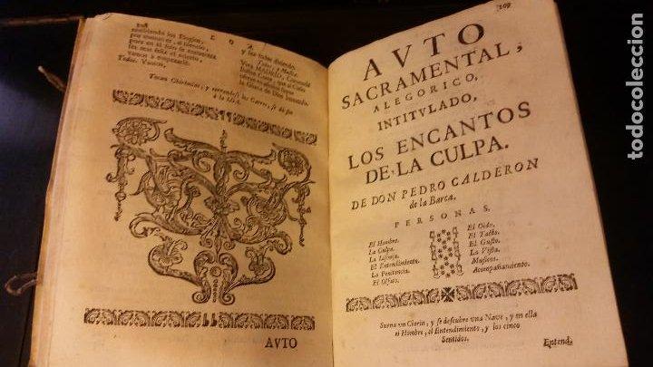 Libros antiguos: 1717 - CALDERON DE LA BARCA. Autos sacramentales, alegóricos e historiales. Obras posthumas V - Foto 6 - 286524788