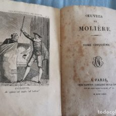 Libros antiguos: OUVRES DE MOLIERE TOME CINQUIEME AÑO 1822 L'AVARE COMEDIE EN CINQ ACTES TOMO EN FRANCÉS. Lote 286982738