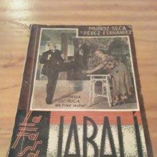 Libros antiguos: JABALI.PEDRO MUÑOZ Y PEDRO PEREZ FERNANDEZ.LA FARSA NUM.290.1933.79 GRAMOS.. Lote 287987418