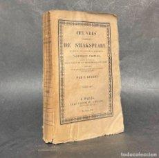 Libros antiguos: 1821 - OBRAS DE SHAKSPEARE - MACBETH - ANTONIO Y CLEOPATRA -. Lote 289211778