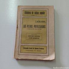 Libros antiguos: BIBLIOTECA DE CULTURA POPULAR TOMO LII - LOS PECHOS PRIVILEGIADOS - JUAN RUIZ DE ALARCON. Lote 289217908