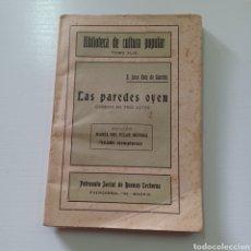 Libros antiguos: BIBLIOTECA DE CULTURA POPULAR TOMO XLIX - LAS PAREDES OYEN - JUAN RUIZ DE ALARCON. Lote 289221673