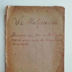 Libros antiguos: LA MALQUERIDA / LOS INTERESES CREADOS JACINTO BENAVENTE ILUSTRACIONES RICARDO MARÍN [C. 1910]. Lote 289895803